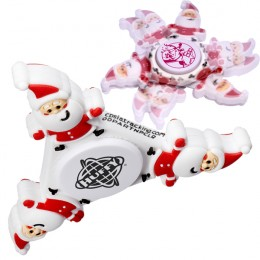 Custom Stocking Stuffer Fidget Spinner with Santa -Holiday Giveaways