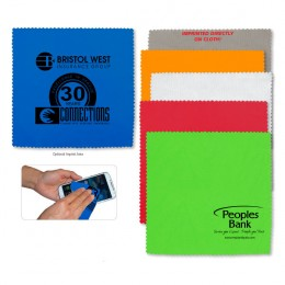Logo Imprinted Microfiber Cleaning Cloth & Screen Cleaner