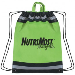 Large Non-Woven Reflective Sports Pack- Lime