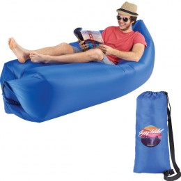Promotional Easy Inflate Air Couch - Beach Chair - Blue