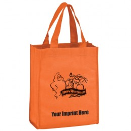 8 x 10 Non-Woven Recyclable Halloween Mini-Tote - Ghost
