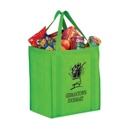 Large Heavy Duty Non-Woven Grocery Bag with Poly Board Insert - 13 x 15 x 10