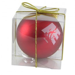 3 1/4 Ornament with Custom Imprint | Customized Ornament - Red