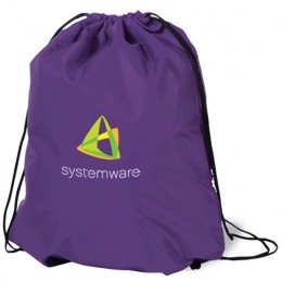 Premium Poly Drawstring Backpack - Purple