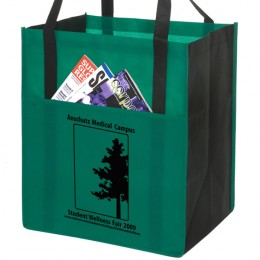 Metro Shopping Tote With Outside Pocket - Green