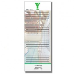 Promotional Custom Sticky Notes 3 x 8 Inch Full Color Logo - USA made
