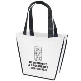 Carnival Promotional Non-woven polypropylene bag - with company logo - White