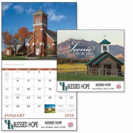 Scenic Churches Wall Calendar