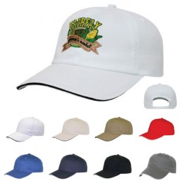 Cotton Baseball Sandwich Cap Custom Logo
