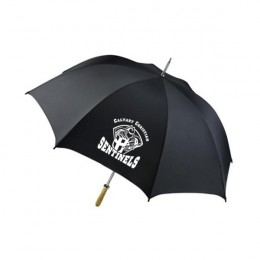 Promotional Golf Umbrella 60 inch - Durable Double Ribbed Frame - Black
