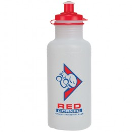 Fitness Bottle for Marketing 18 oz - Frost Bottle & Red Lid