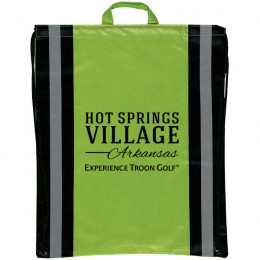 Drawstring backpacks with safety stripes - eco-friendly promotional products - Lime